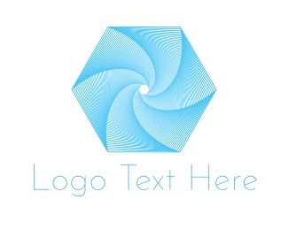 Turbine - Hexagonal Tornado logo design