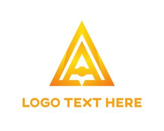 Company - Golden Pyramid logo design