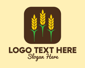 Farmland - Corn Grain Mobile App logo design