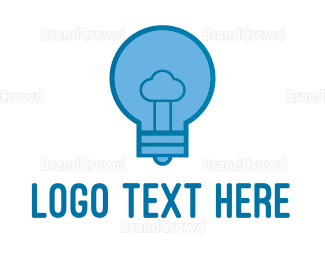 Bulb - Cloud Idea  logo design