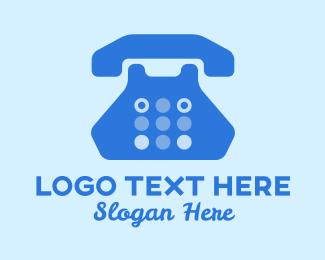 Caller - Blue Telephone  logo design