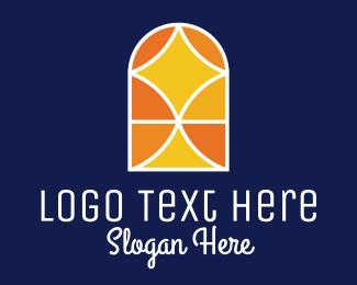 Parish - Monochrome Parish Window  logo design