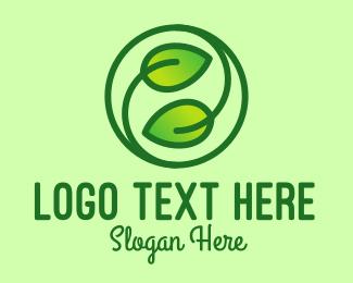 Natural Conservation - Gradient Organic Leaves logo design