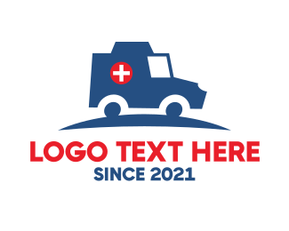 Patient - Medical Emergency Hospital Ambulance logo design