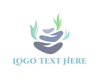 Zen - Grey Stones logo design
