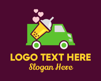 Bubble Tea - Bubble Tea Delivery Truck logo design