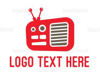 Radio - Red Radio  logo design