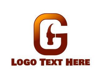 Fix - Hammer Letter G logo design