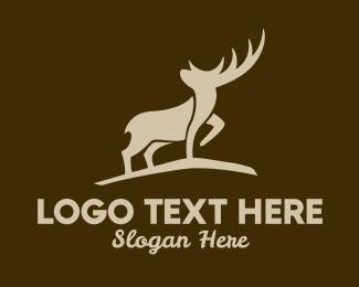Outdoor Gear - Brown Wild Elk logo design