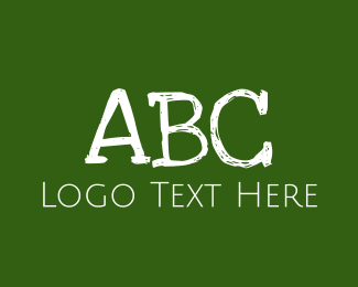 Education - Green Chalkboard ABC logo design