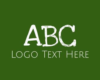 Acronym - Green Chalkboard logo design