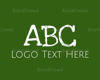 Board - Green Chalkboard logo design