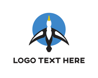 Aviation - Blue Gull logo design