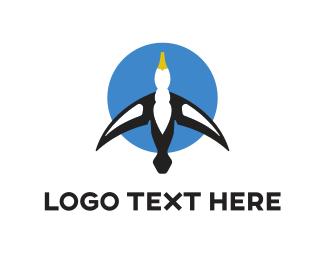 Transport - Blue Gull logo design