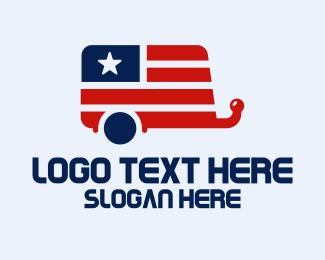 Trailer - American Trailer Home logo design