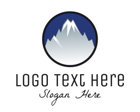 Holiday - Mountain Snowcapped Alps logo design
