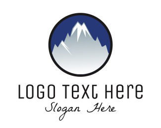 Iceberg - Mountain Alps logo design