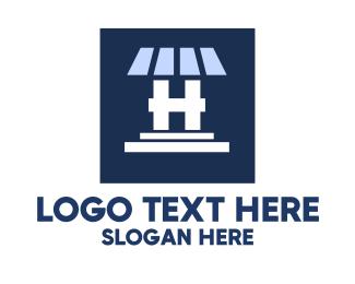 Roofing - Roof Panel Letter H logo design