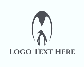 Mother - Penguin Family logo design