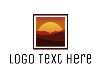 Brown Orange - Panoramic Sunset logo design