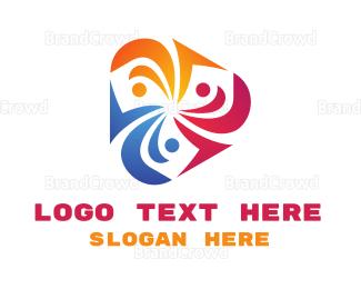 Crowdsourcing - Colorful Propeller  logo design
