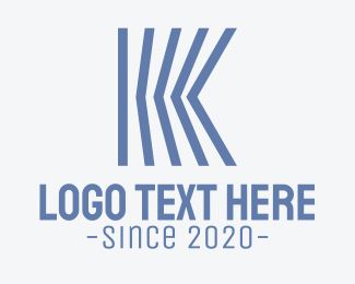 Finance - Blue Engineering Letter K logo design