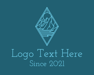 Mountain Climbing - Blue Diamond Mountain  logo design