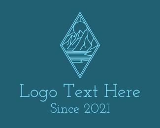 Explorer - Blue Diamond Mountain logo design