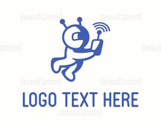 Social - Astronaut Signal logo design