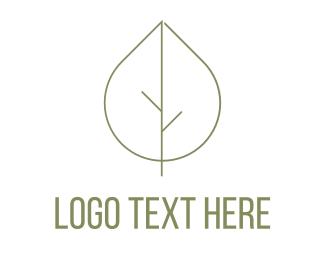 Elegant - Leaf Tree logo design