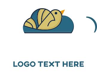 Heaven - Bird Cloud logo design