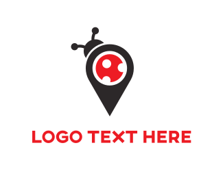 Pin - Bug Map logo design