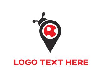 Pin - Bug Map logo design