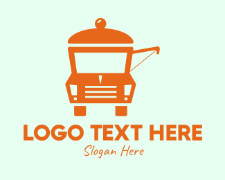 Mobile Restaurant - Food Stall Truck  logo design