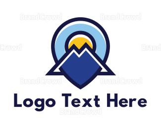 Mountain - Blue Mountain Locator logo design
