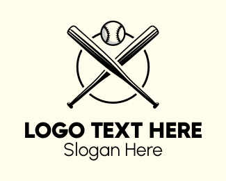Pitch - Baseball Bat Club logo design