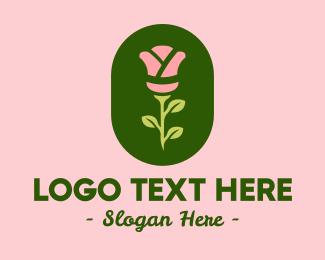 Florist - Rose Kimono logo design