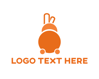 Hare - Abstract Bunny logo design