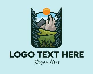 Rocky - Nature Outdoor Summit logo design