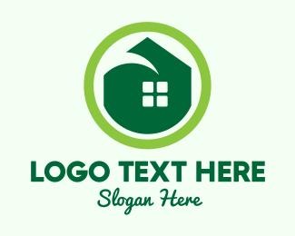 Housing - Green Eco House logo design