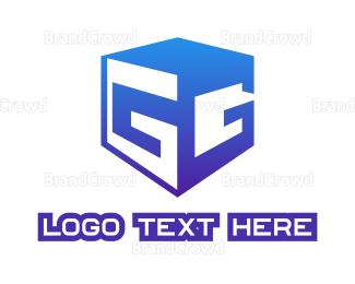 Double - Double G Cube logo design