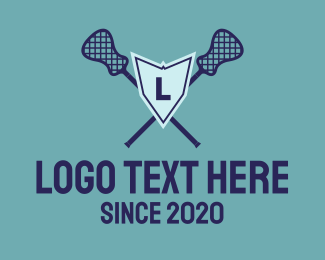 Sports Club - Lacrosse Shield logo design