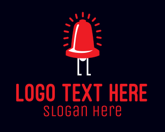 Electronics - Bell Alarm Cartoon logo design