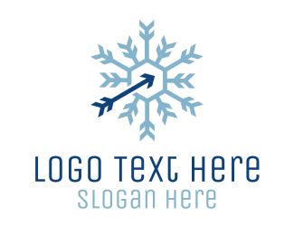 Cooling - Snowflake Arctic Arrow logo design