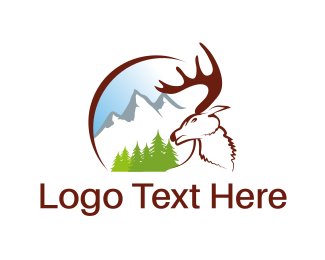 Austria - White Moose logo design