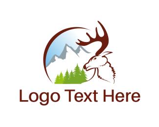 Cave - White Moose logo design
