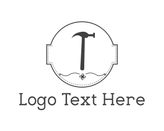 Repair - Hammer Circle logo design