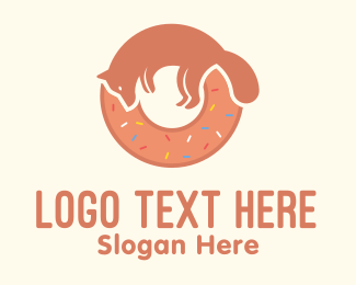 Doggy - Fox Doughnut Letter O logo design