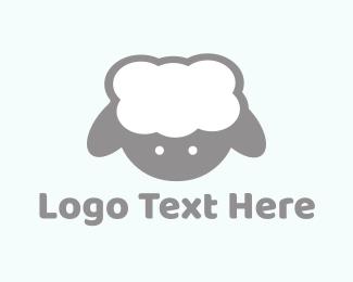Herd - Cute Baby Lamb logo design