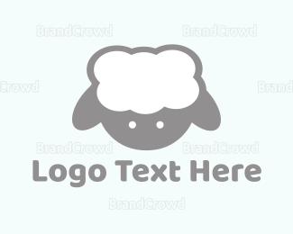 Sheep - Cute Baby Lamb logo design